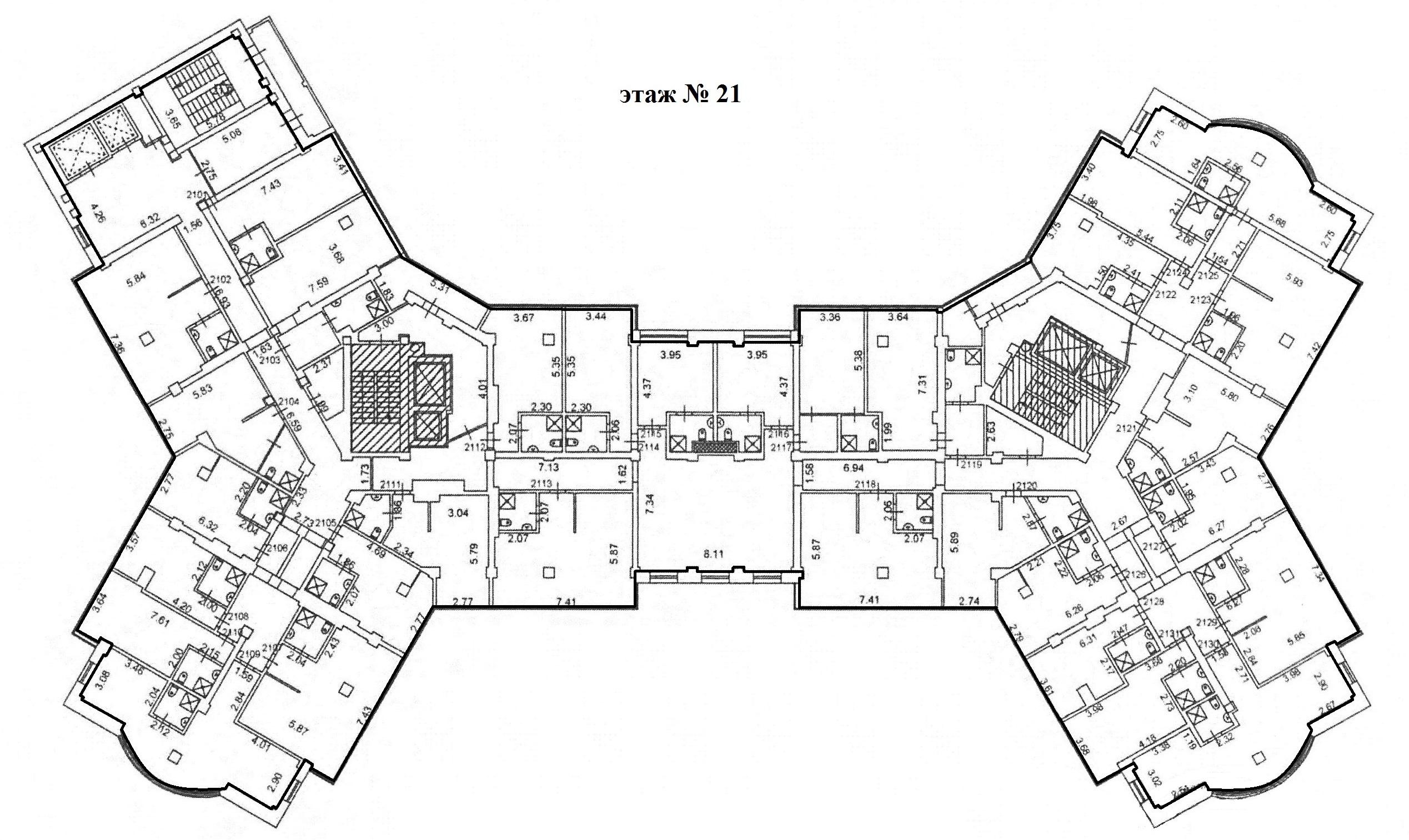 Коммерция Сургут Гагарина 12 этаж 21