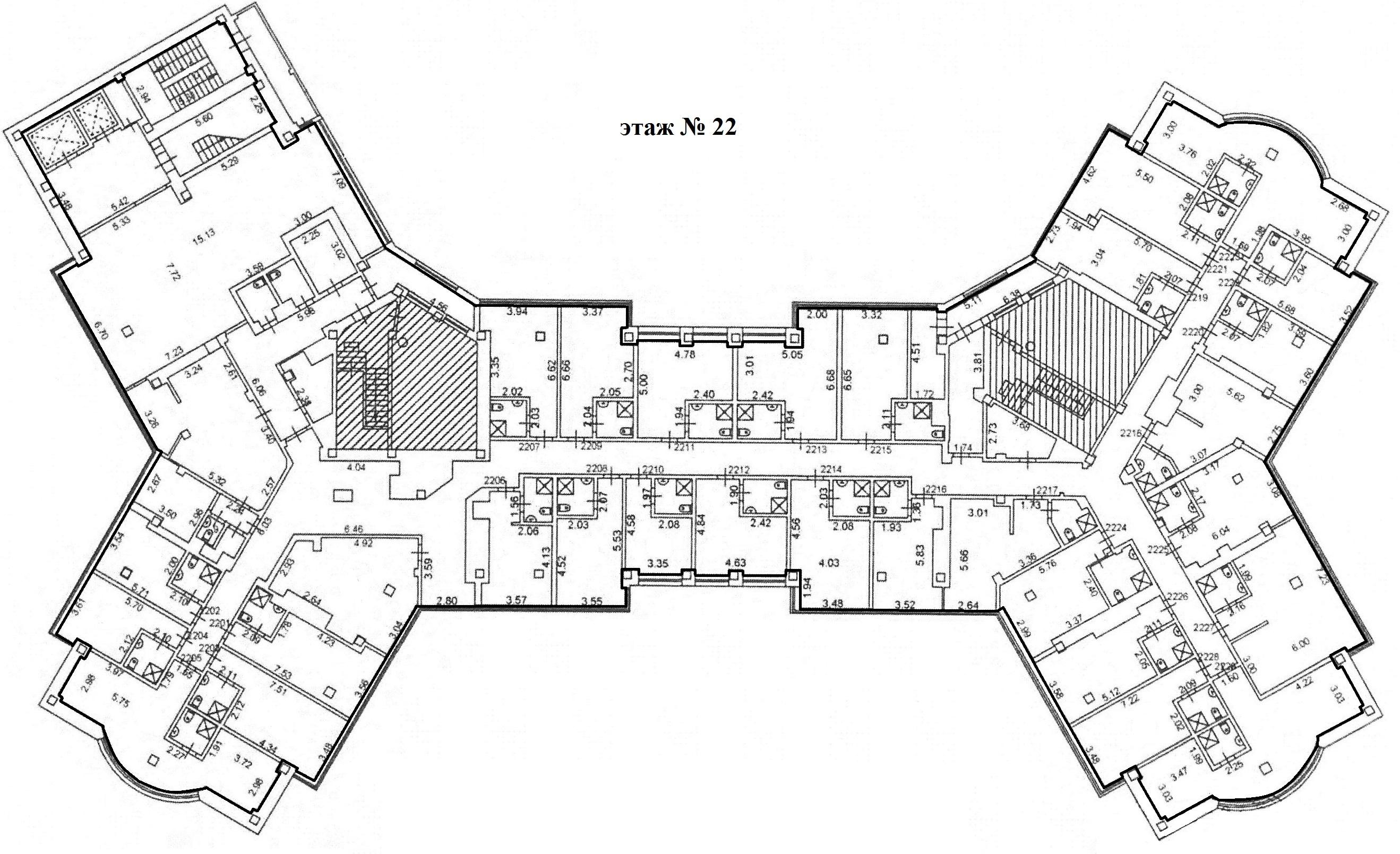 Коммерция Сургут Гагарина 12 этаж 22